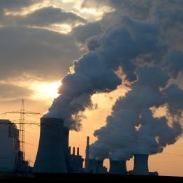 Image #: 21788013 The sun sets behind the brown coal power plant Neurath near Grevenbroich, Germany, 27 March 2013. Photo: Federico Gambarini DPA /LANDOV